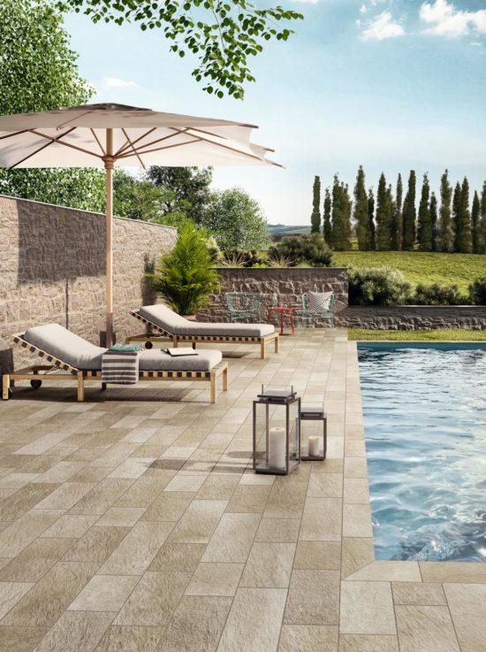 Pierre des Rêves Aurore - Carrelage et margelles pour piscine effet pierre naturelle