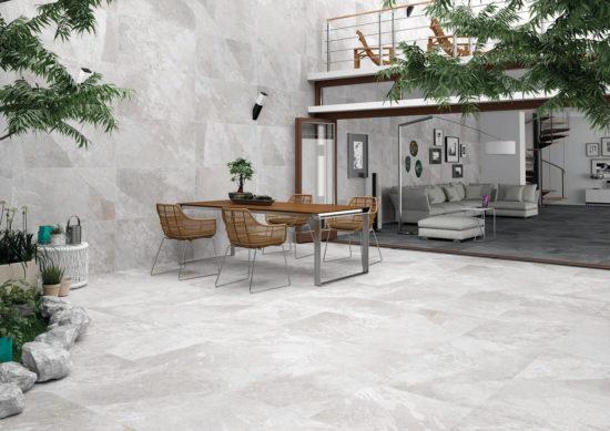Axis White – Carrelage extérieur Imitation pierre blanche 60x120