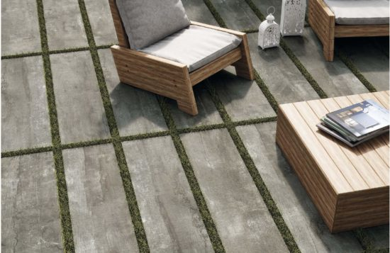 Antique Grey - Carrelage extérieur pour pose sur plots effet bois vieilli 30x120
