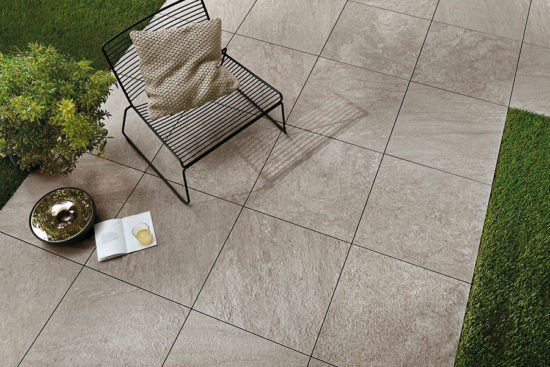 Brave Pearl - Carrelage antidérapant 60x60 imitation pierre