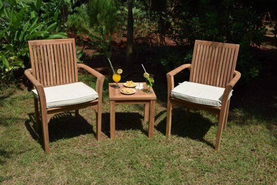 Table d'appoint Coffee et fauteuils Lombok