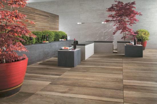 Etic Pro Quercia antique - Carrelage forte épaisseur imitation bois très nuancé pour un rendu original