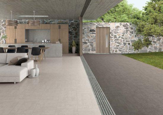 Focus Grey / Anthracite – Association de deux teintes d'une même collection pour l'alliance d'un intérieur et d'un extérieur urbains et modernes.