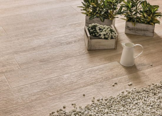 Greenwood Beige Strong - Carrelage intérieur / Extérieur reprenant le ton naturel du bois de chêne