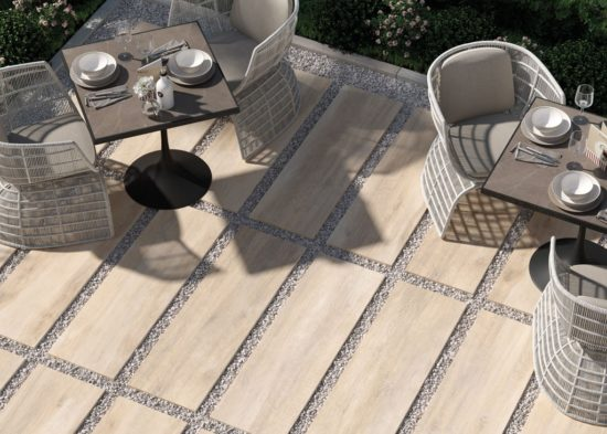 Greenwood beige - Carrelage extérieur forte épaisseur aux teintes douces de bois naturel