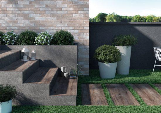 Greenwood Bruno - Grés cérame imitation bois brun pour des extérieurs chaleureux