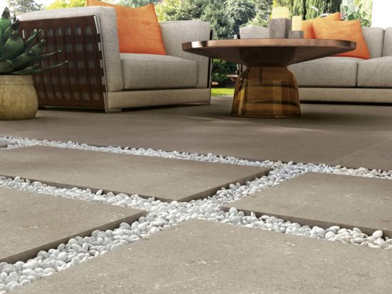 Galaxy – Effet pierre naturelle reprenant la rugosité du ciment calcaire en dalles de 40x120