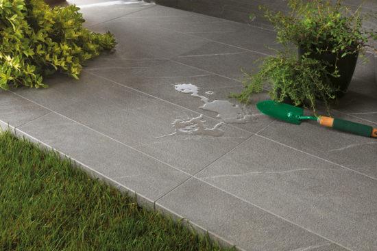 Marvel Cardoso Elegant - Carrelage imitation pierre naturelle grise en forte épaisseur pour pose sur plots