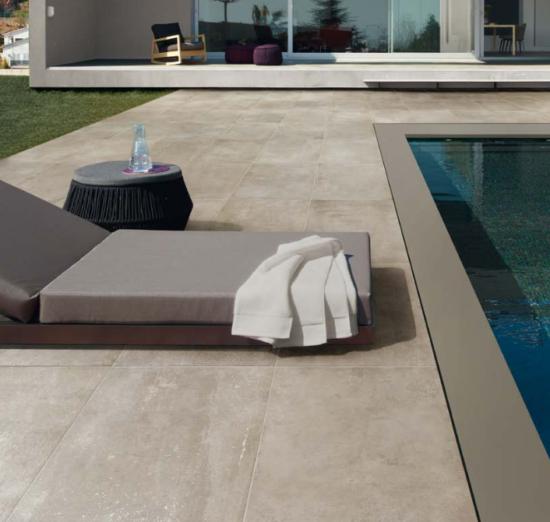 Patchwalk beige - Carrelage extérieur en grès cérame très nuancé comme une pierre naturelle