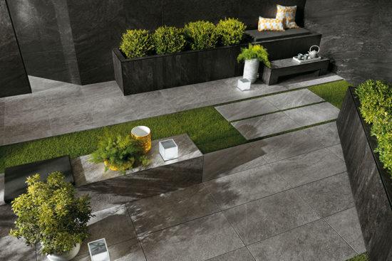 Brave Grey - Carrelage 60x120 cm en forte épaisseur pour pose sur plots