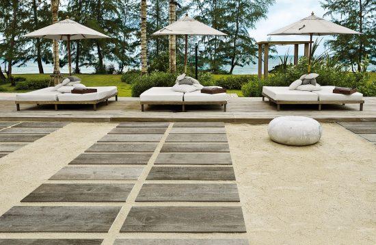 Time Design Silver - Imitation bois en forte épaisseur pour pose sur plots.