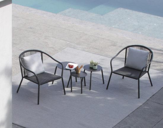 Samba - Tables et chaises en aluminium et fibres