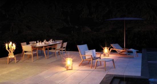 Vita - Table, chaise et transat dans un style classique et intemporel