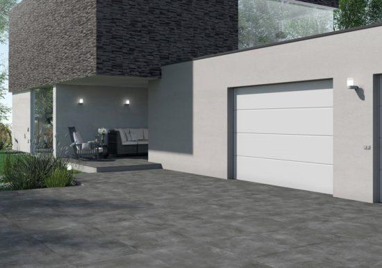 Volcano Dark - Carrelage extérieur imitation béton pour terrasses et allées de jardin