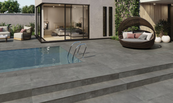 Work Coal - Carrelage extérieur avec pièces spéciales pour terrasse, piscine, escaliers...
