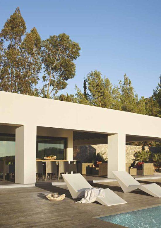 Focus Beige – Carrelage terrasse extérieure effet parquet chêne foncé 24.3x99.5