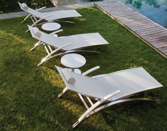 O-Zon - Transat au style épuré en aluminium blanc