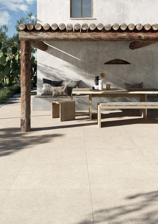 Modica Stone Bianco - Carrelage imitant une pierre Italienne aux nuances de blanc