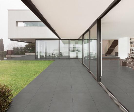Select Piombo - Carrelage extérieur imitation béton gris