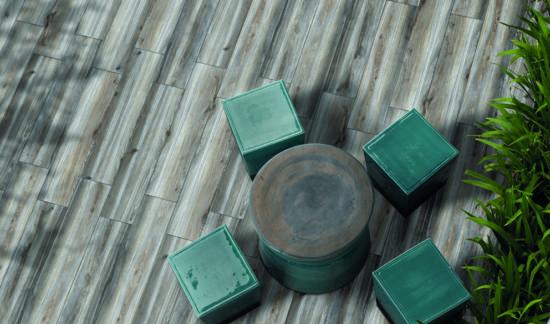 Woodbreak Hemlock - Carrelage imitation bois aux multiples nuances de gris