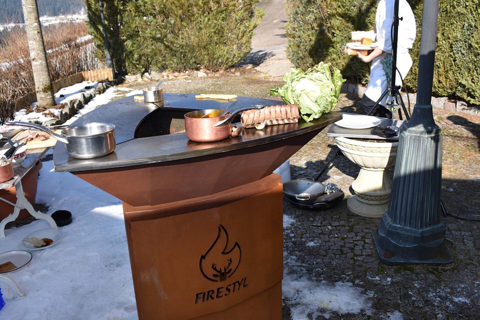 Comment Fabriquer Une Plancha plancha grill braséro en corten   terrasse & co