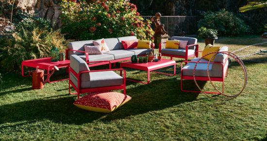 Bellevie - Salon de jardin en acier et aluminium disponible en différentes couleurs